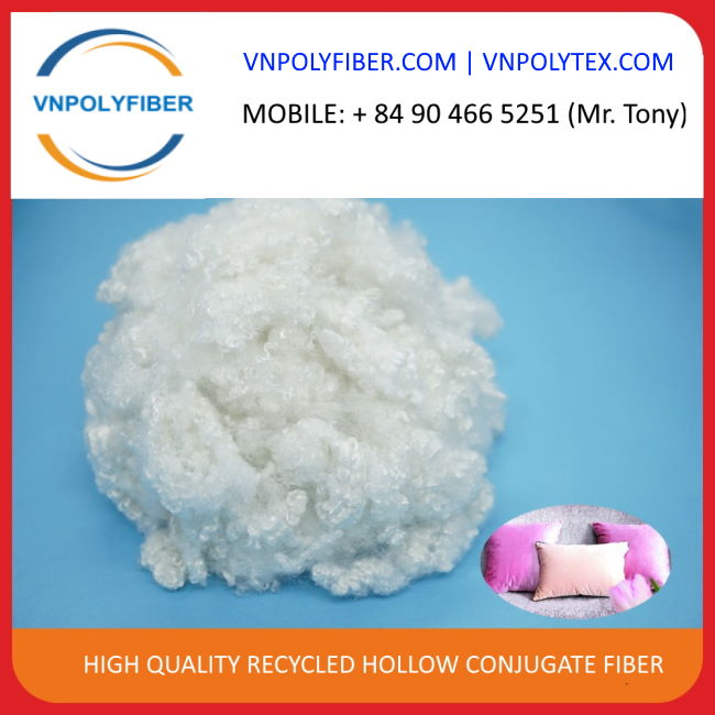 GRS certified 15D HCS recycled polyester staple fiber
