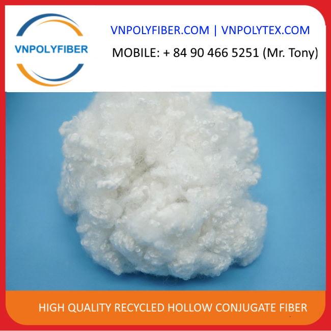 100% recycled pet bottle polyester staple fiber