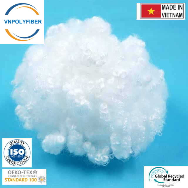 Recycled PET Fiber PSF Hollow Conjugated For Non-woven Production